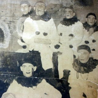 A Rare & Large Early 20thC Photograph of a Pierrot Troupe c.1900-10