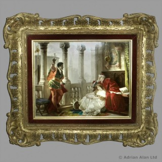 KPM Porcelain Plaque depicting A Scene from Shakespeare's Othello