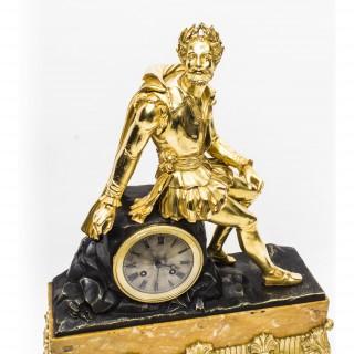 Antique French Ormolu & Bronze Mantel Clock c.1850