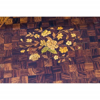 Antique Kingwood Parquetry Marquetry Ormolu Occasional Table C1870