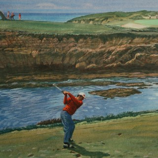 Cypress Point Golf Print, Arthur Weaver