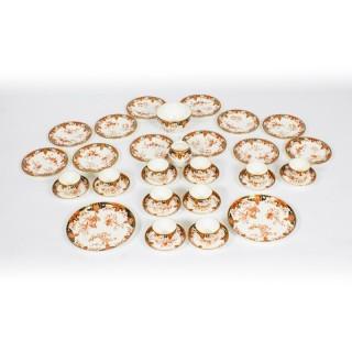 Antique Royal Crown Derby Porcelain Imari Pattern Tea Set C1906
