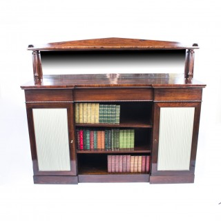 Antique William IV Rosewood Chiffonier Open Bookcase c.1835