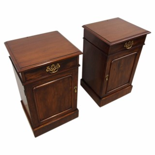 Pair of Victorian Mahogany Bedside Cabinets or Lockers