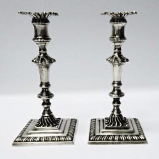 Antique Silver Tapersticks