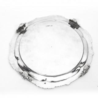 Antique Pair Paul Storr Sterling Silver Salvers 1810