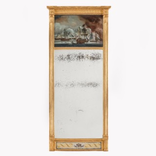 early 19th century commemorative pier mirror