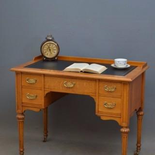 Victorian Oak Writing Table