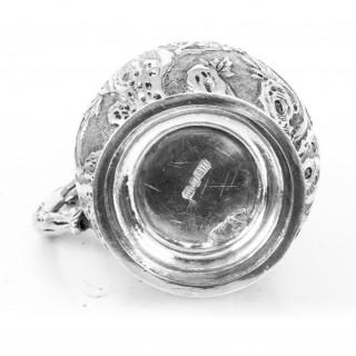 Antique Chinese Wang Hing Silver Mug c.1900