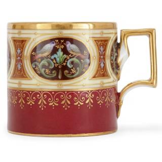 Twenty five piece antique Royal Vienna porcelain service