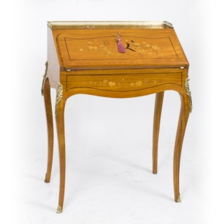 Antique Satinwood & Marquetry Bureau de Dame c.1880
