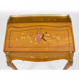 Antique Satinwood & Marquetry Bureau de Dame c.1880
