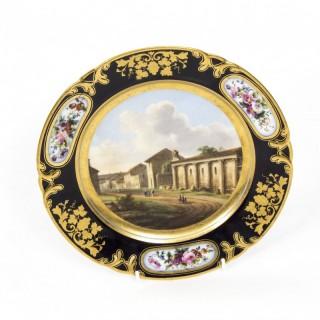 Antique Porcelain Plate Pucher Deroche, Paris C1880