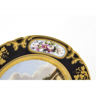 Antique Porcelain Plate Pucher Deroche, Paris C1880