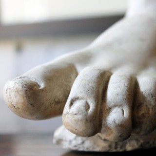 A Good Early 20thC Neoclassical Style Grand Tour Plaster Model of a Foot