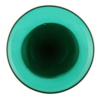 6 Georgian Green Glasses
