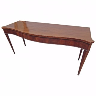 Late George III Mahogany Serpentine Serving Table