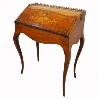 French Rosewood and Satinwood Bureau De Dame