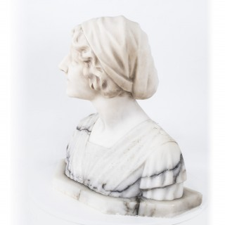 Antique Marble Bust of Iullette by Prof G.Bessi c1900