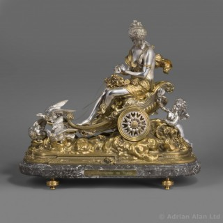 'Le Triomphe de Flora' - An Important Gilt and Silvered Bronze Centrepiece