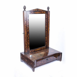 Antique Dutch Marquetry Dressing Table Mirror c.1780 - 68 x 43 cm