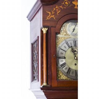 Antique English 5 Tube Musical Longcase Clock c.1900
