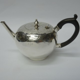 Antique Silver Bullet Teapot