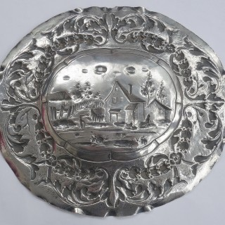 Antique Augsburg Silver Dish