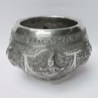 Antique Indian Silver Bowl