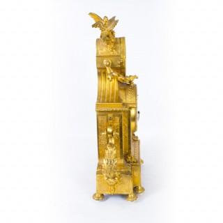 Antique French Ormolu Sevres Porcelain Mantel Clock c.1860