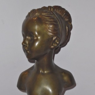 A French patinated bronze bust of L. Brongniart after Houdon