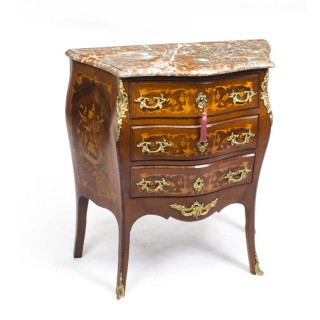 Antique French Louis XV Commode Rouge Marble c.1880