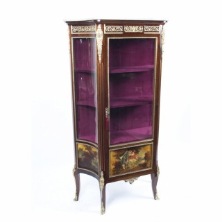Antique French Vernis Martin Display Cabinet c.1880