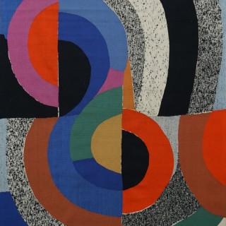 Unique piece tapestry by Sonia Delaunay
