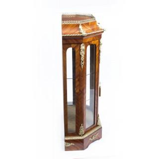 Antique Pair Victorian Tulipwood Vitrines Cabinets c.1870