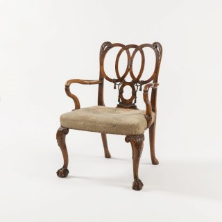 Walnut Armchair in the George II Manner