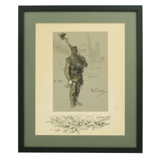 WWI Military Print, Wipers