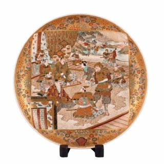 Japanese Satsuma Pottery Charger