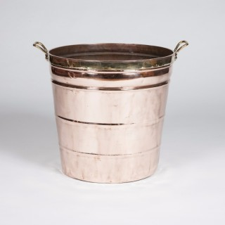 Large copper bin or planter with