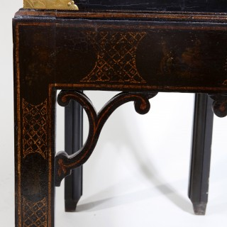 A lacquer cabinet on stand