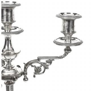 Antique Pair Victorian 4 Light Candelabra H Woodward C1880