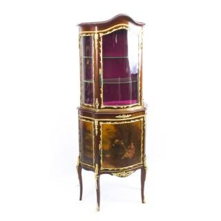 Antique French Vernis Martin Vitrine Display Cabinet C1880