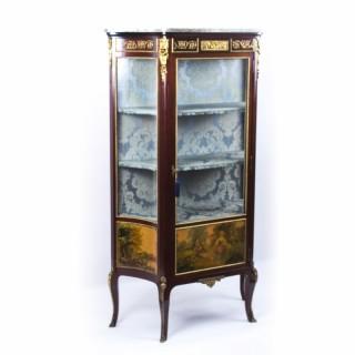 Antique French Vernis Martin Vetrine Display Cabinet c.1870