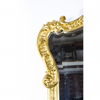 Antique Pair French 2.5 metre Giltwood Pier Mirrors c.1900 - 246 x 125 cm