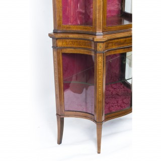 Antique Edwardian Inlaid Display Cabinet c.1900