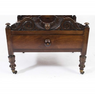 Antique Regency Mahogany Canterbury Cabinet c.1820