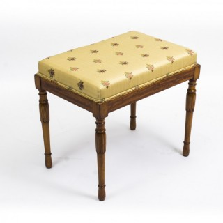 Antique Edwardian Satinwood Stool c.1900
