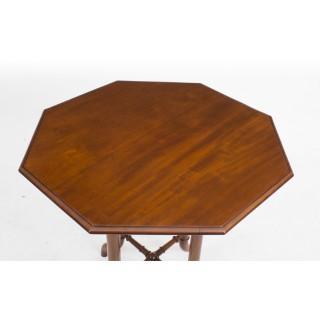 Antique Victorian Mahogany Octagonal Occasional Table c.1860