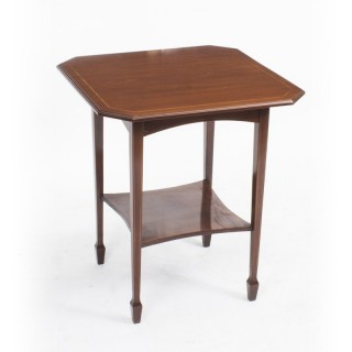 Antique Inlaid Mahogany Edwardian Occasional Table c.1900