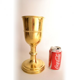 Antique Silver Gilt Chalice Cup by Paul de Lamerie 1745